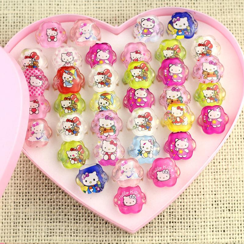 Party Favors Hello Kitty Cartoon Rings for Girl Kids Happy Birthday Party Favors Party Supplies-Party Supplies-Shop Here Pravalia