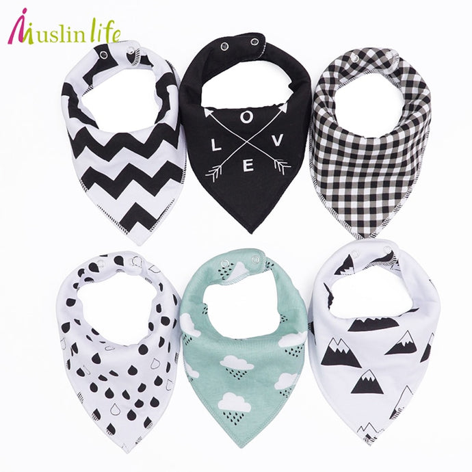 Muslin 4 pieces /lot bibs burp cloth triangle baby bibs cotton bandanna accessories-Shop Here Pravalia