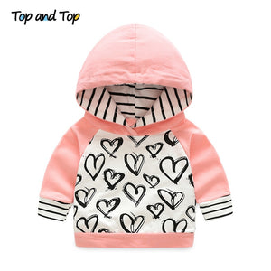 Cute Infant Newborn Baby Girl Clothes Hooded Sweatshirt Striped Pants 2pcs Outfit Cotton Baby Tracksuit Set-Shop Here Pravalia