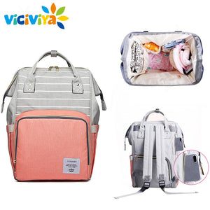Diaper Backpack Nursing Care Baby Bag Travel Nappy Bag Organizer Waterproof Maternity Patchwork Bag-Shop Here Pravalia
