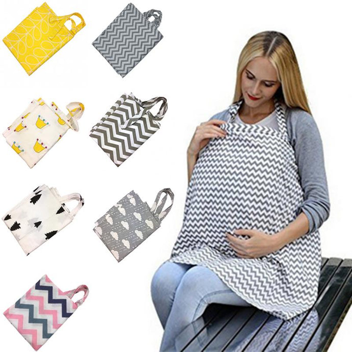 Breastfeeding Cover Baby Breathable Cotton Nursing Cloth Large Nursing Cover Feeding Cover-Shop Here Pravalia