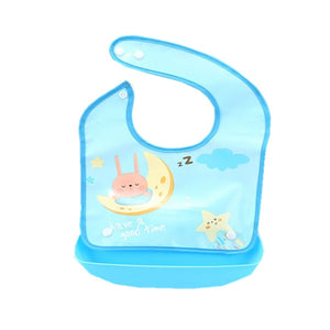 Newborn Baby Bibs Silicone Waterproof Baby Feeding Bib Boy Girl Apron-Shop Here Pravalia