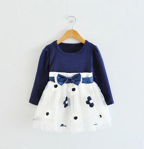 Long Sleeve Baby Girls Dress For Girl Christening Birthday Newborn Toddler Dresses Kids Casual Clothes-Shop Here Pravalia