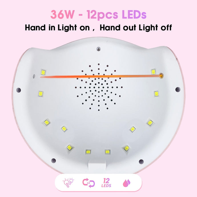 Nail Dryer For Nail LED UV Lamp MINI USB Lamp For Manicure LCD Display Drying Gels Nail-Shop Here Pravalia