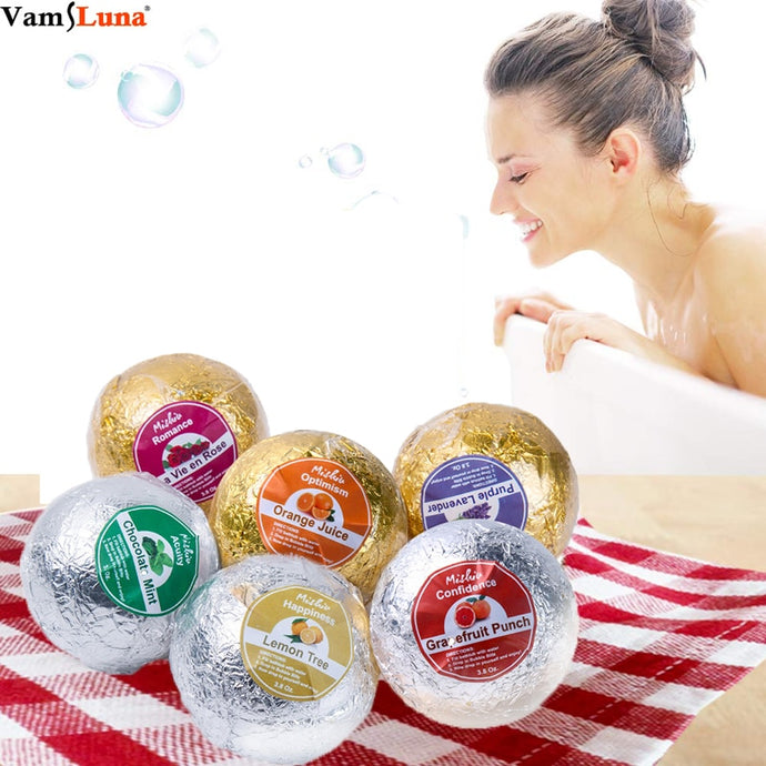 Bath Bombs Gift Set Spa Fizzes To Moisturize Dry Skin Natural Ingredients Rich Fragrances-Shop Here Pravalia