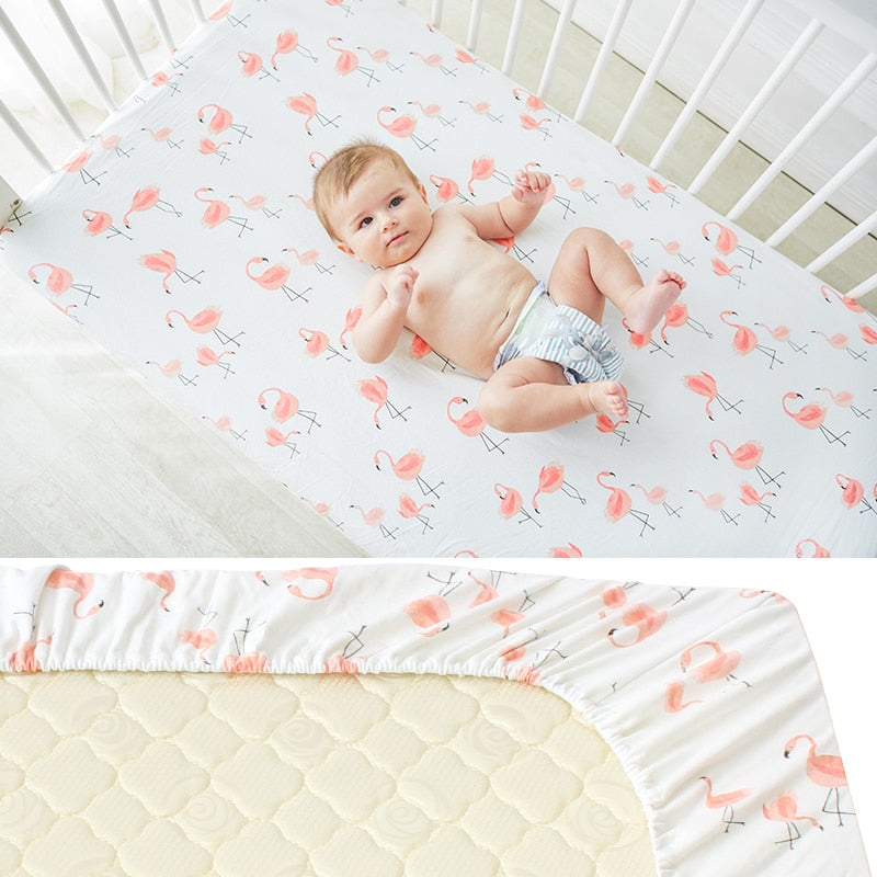 Cotton Baby Crib Fitted Sheet Infant Cot Bed Sheets Soft Breathable Bedding Soft Mattress Cover-Shop Here Pravalia