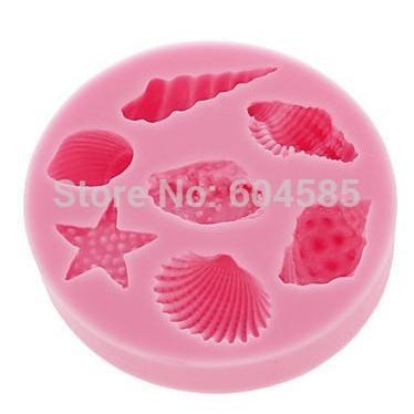 Sea Shell Shape Chocolate Silicon Mold Fondant Cake Decoration Mold-Kitchen Utensils and Gadgets-Shop Here Pravalia