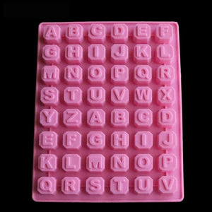 Silicone Baking Mold Shape Alphabet Letters Chocolate Candy Mold Chocolate-Kitchen Utensils and Gadgets-Shop Here Pravalia