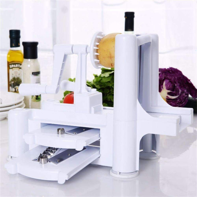 Vegetable Spiralizer Slicer Cutter Chopper Cooking Tools Kitchen Knife Kitchen Accessories 3 Blades-Kitchen Utensils ans Gadgets-Shop Here Pravalia