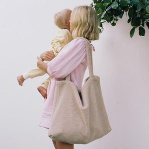 TEDDY MUM BAG | ECRU