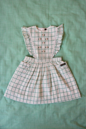 APRON DRESS | GREEN CHECK