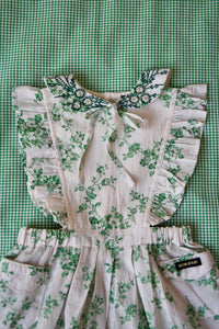 APRON DRESS WITH EMBROIDERY COLLAR