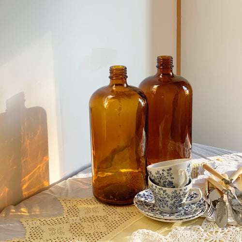 ●40% OFF● VINTAGE AMBER GLASS BOTTLE