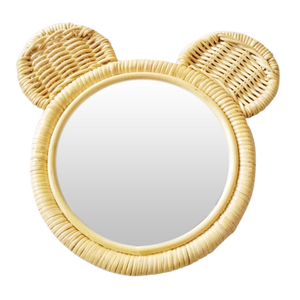 RATTAN ANIMAL MIRROR | BEAR