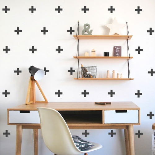 POM LE BONHOMME CROSS WALL STICKERS BLACK