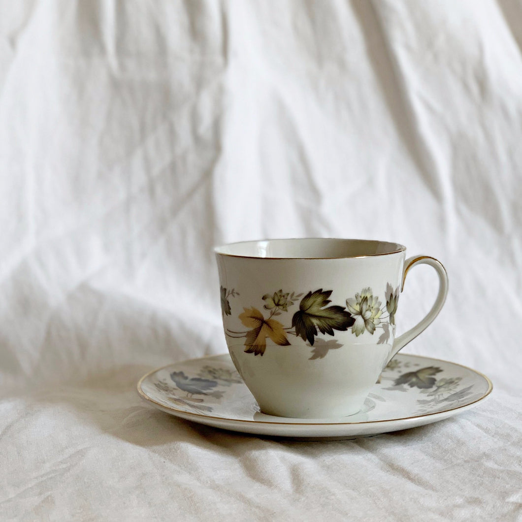 VINTAGE TEA CUP AND SAUCER|ROYAL DOULTON