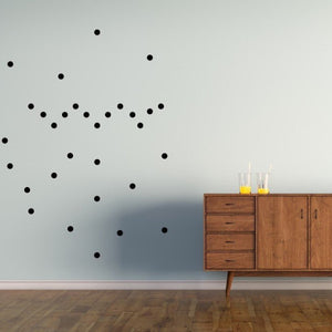 POM LE BONHOMME POLKA DOT WALL STICKERS BLACK