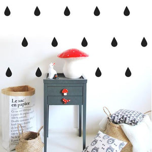 ●60%OFF● POM LE BONHOMME  DROPS WALL STICKERS BLACK
