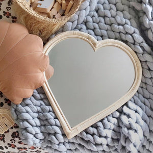RATTAN MIRROR | HEART (ONLY 1 LEFT)