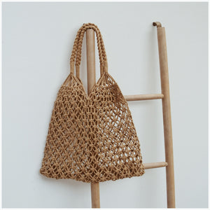 CROCHET BAG CARAMEL (ONLY 1 LFET)