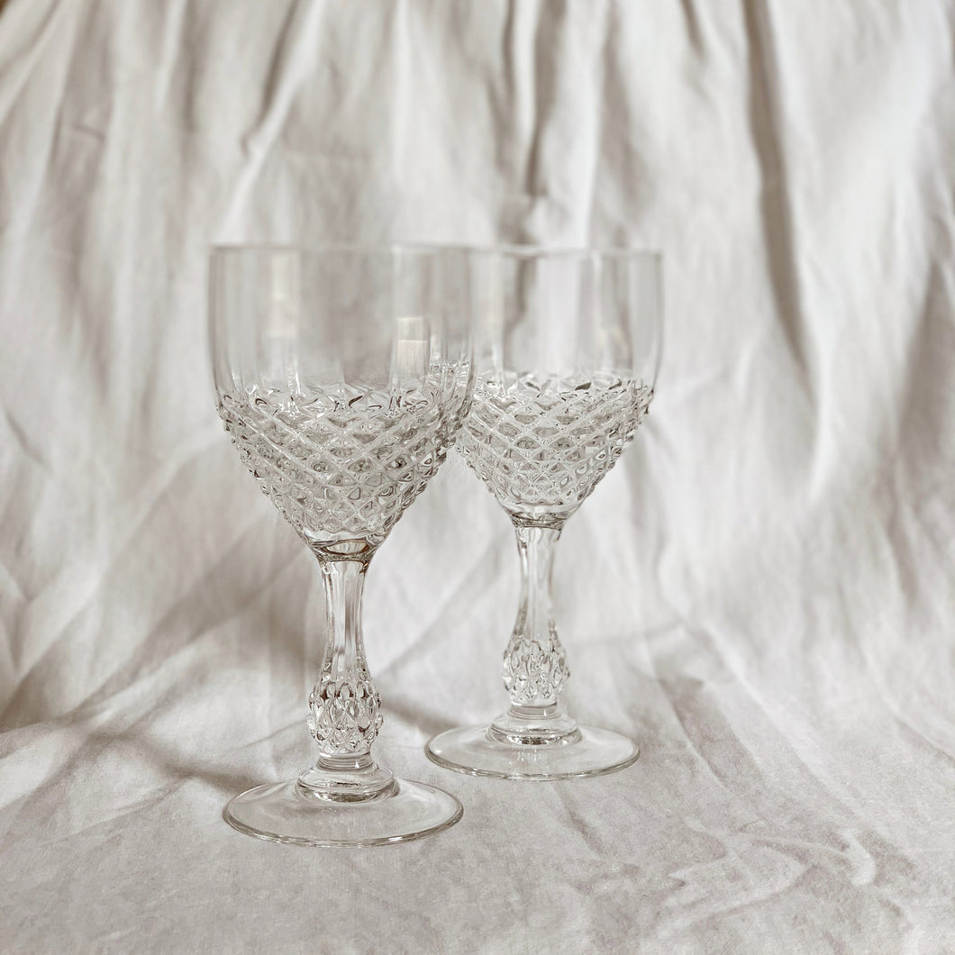 VINTAGE WINE GLASS SET | LARGE
