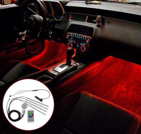App Controlled Car Interior LED Light Kit