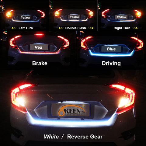 Car Rear Dynamic LED Strip Lights
