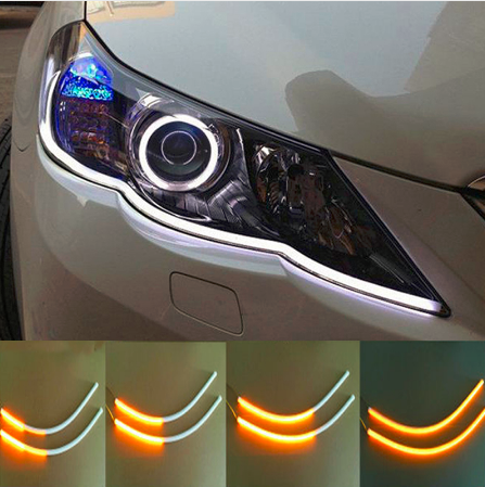 Flowing led car head light strips 1pair linkomondo flowing led car head light strips 1pair aloadofball Gallery