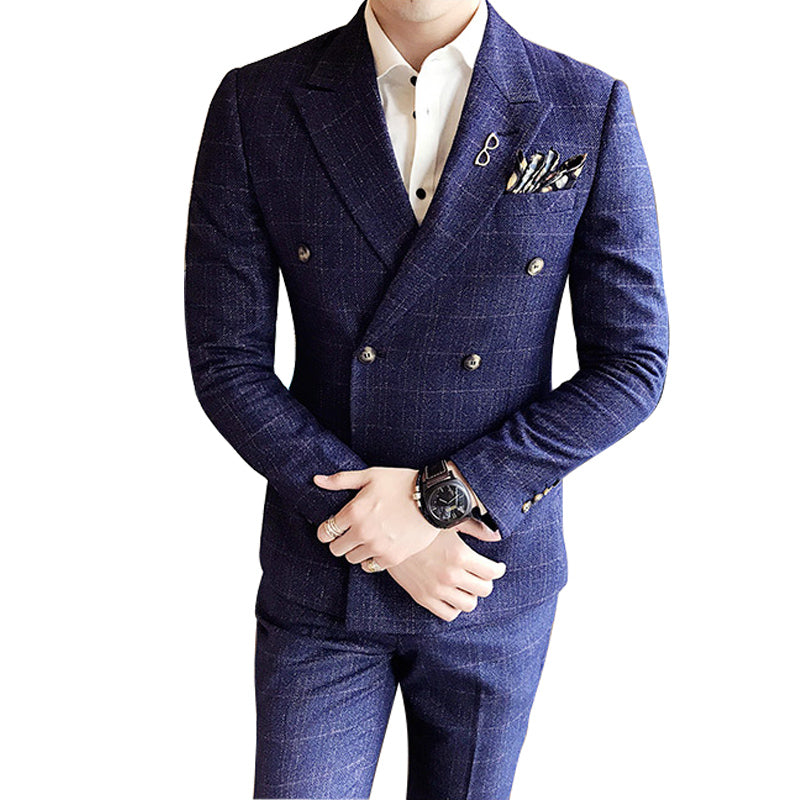 La MaxPa (jacket+pants+vest) High quality brand men suit wedding ...