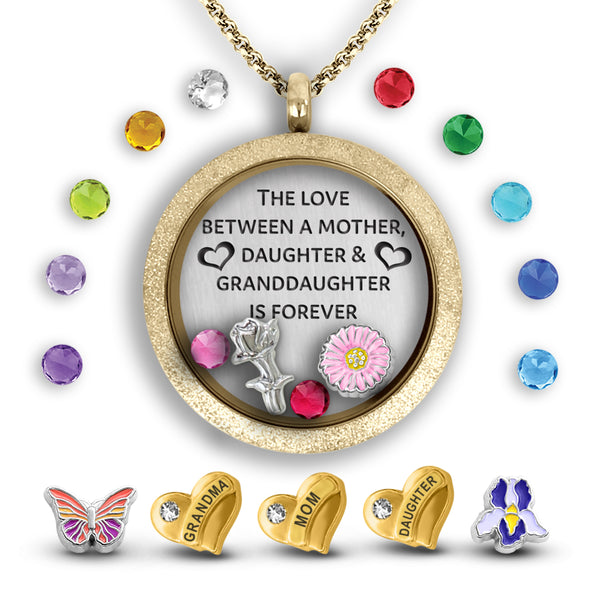 3 generations necklace for mothers day