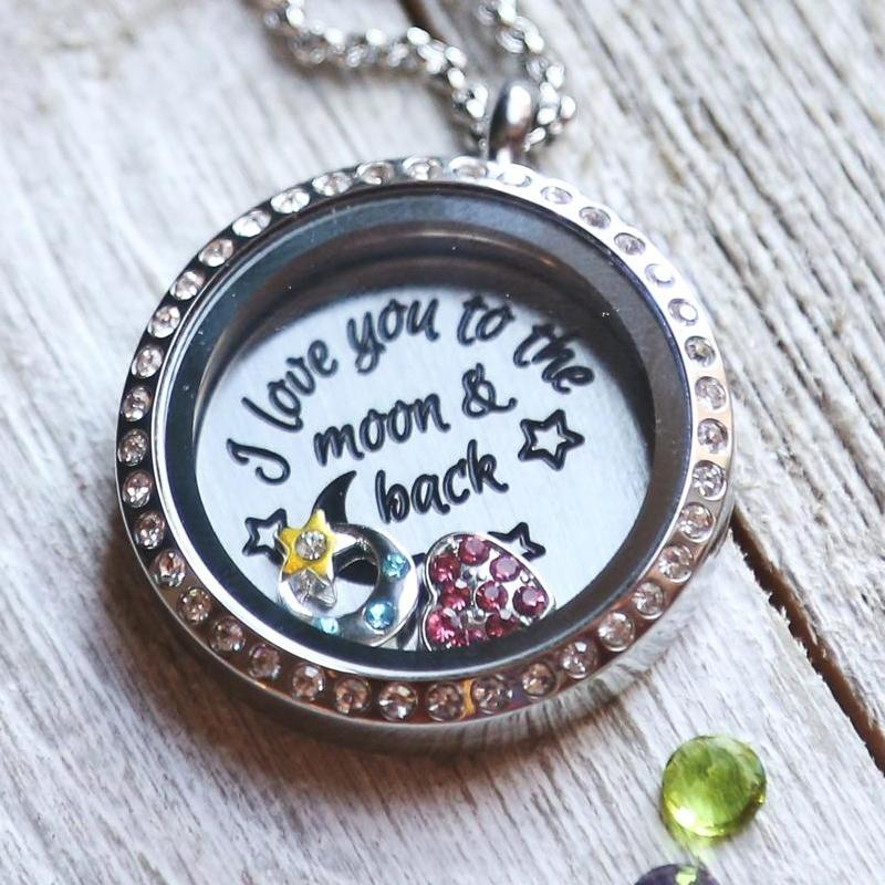 I love You to the Moon and Back Necklace Plate