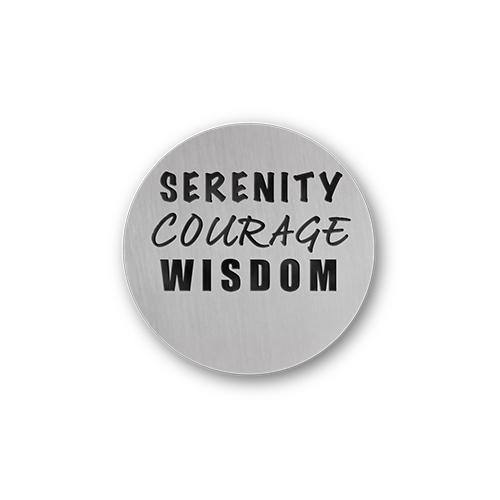 Serenity Courage Wisdom Charm Necklace Plate Tell Me A Charm Floating Charm Lockets