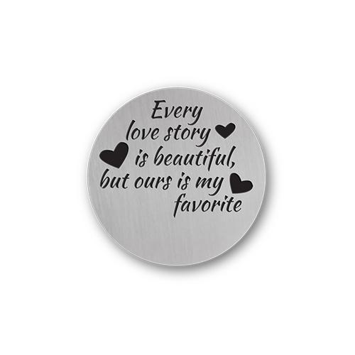 Romantic Love Quote Plate Charm Necklace Plate Tell Me A Charm Floating Charm Lockets