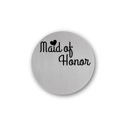 Maid of Honor Gift Message Plate Charm Necklace Plate Tell Me A Charm Floating Charm Lockets