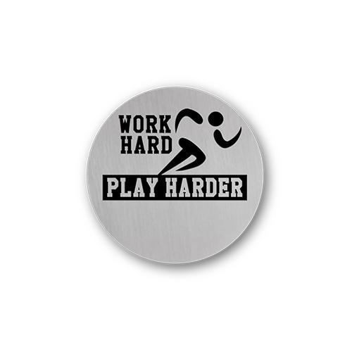 Work Hard Play Harder Charm Necklace Plate Tell Me A Charm Floating Charm Lockets
