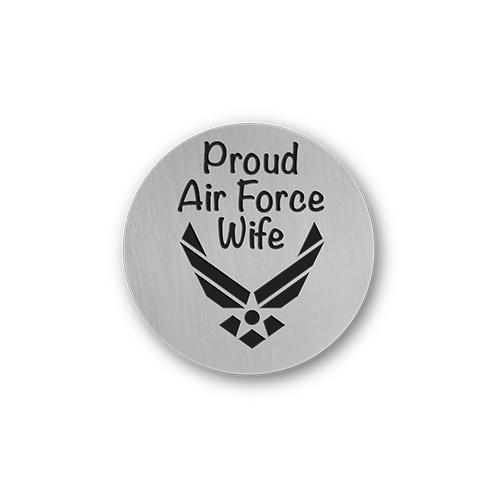 Proud Air Force Wife Charm Necklace Plate Tell Me A Charm Floating Charm Lockets