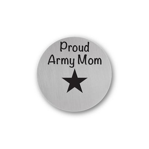 Proud Army Mom Charm Necklace Plate Tell Me A Charm Floating Charm Lockets