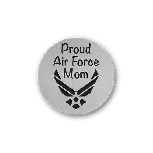Proud Air Force Mom Charm Necklace Plate Tell Me A Charm Floating Charm Lockets