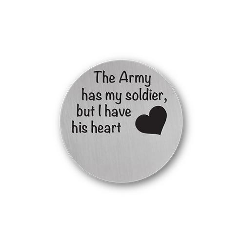 Army Necklace Message Plate Charm Necklace Plate Tell Me A Charm Floating Charm Lockets