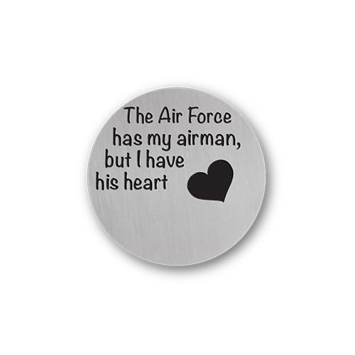Air Force Jewelry Message Plate Charm Necklace Plate Tell Me A Charm Floating Charm Lockets