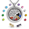 Navy Has My Sailor Charm Necklace Locket Set Tell Me A Charm Floating Charm Lockets