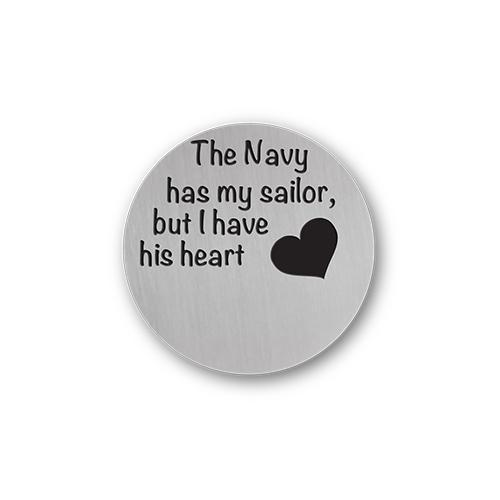US Navy Jewelry Message Plate Charm Necklace Plate Tell Me A Charm Floating Charm Lockets