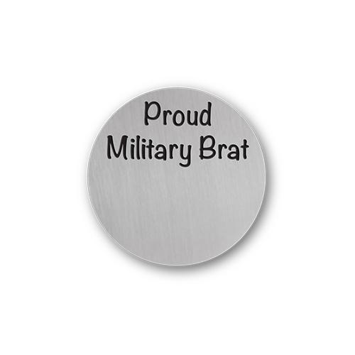 Proud Military Brat Charm Necklace Plate Tell Me A Charm Floating Charm Lockets