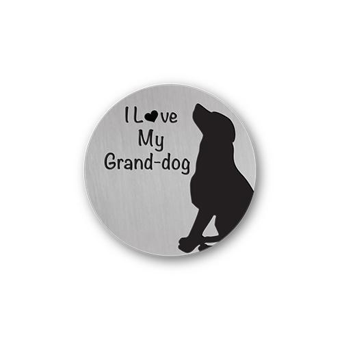 Love My Grand-Dog Quote Plate Charm Necklace Plate Tell Me A Charm Floating Charm Lockets