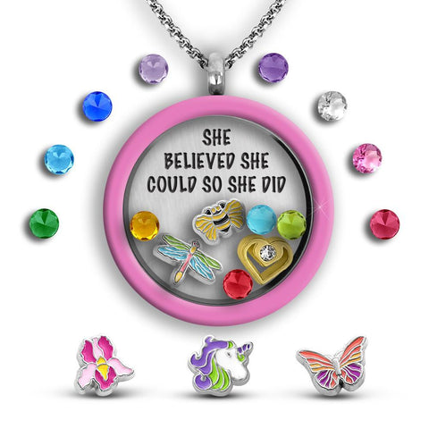 She Believed She Could Daughter Necklace gift