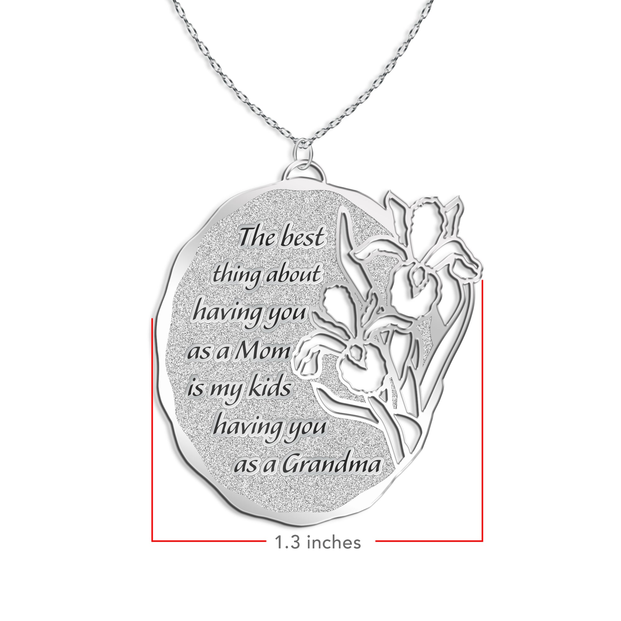 Grandma Necklace The Best Grandma Gift Ever Tell Me A Charm