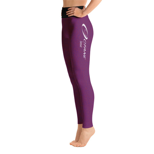 Elegant Detroit Octane Plum Yoga Leggings