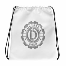 Classic Detroit Octane White Drawstring bag