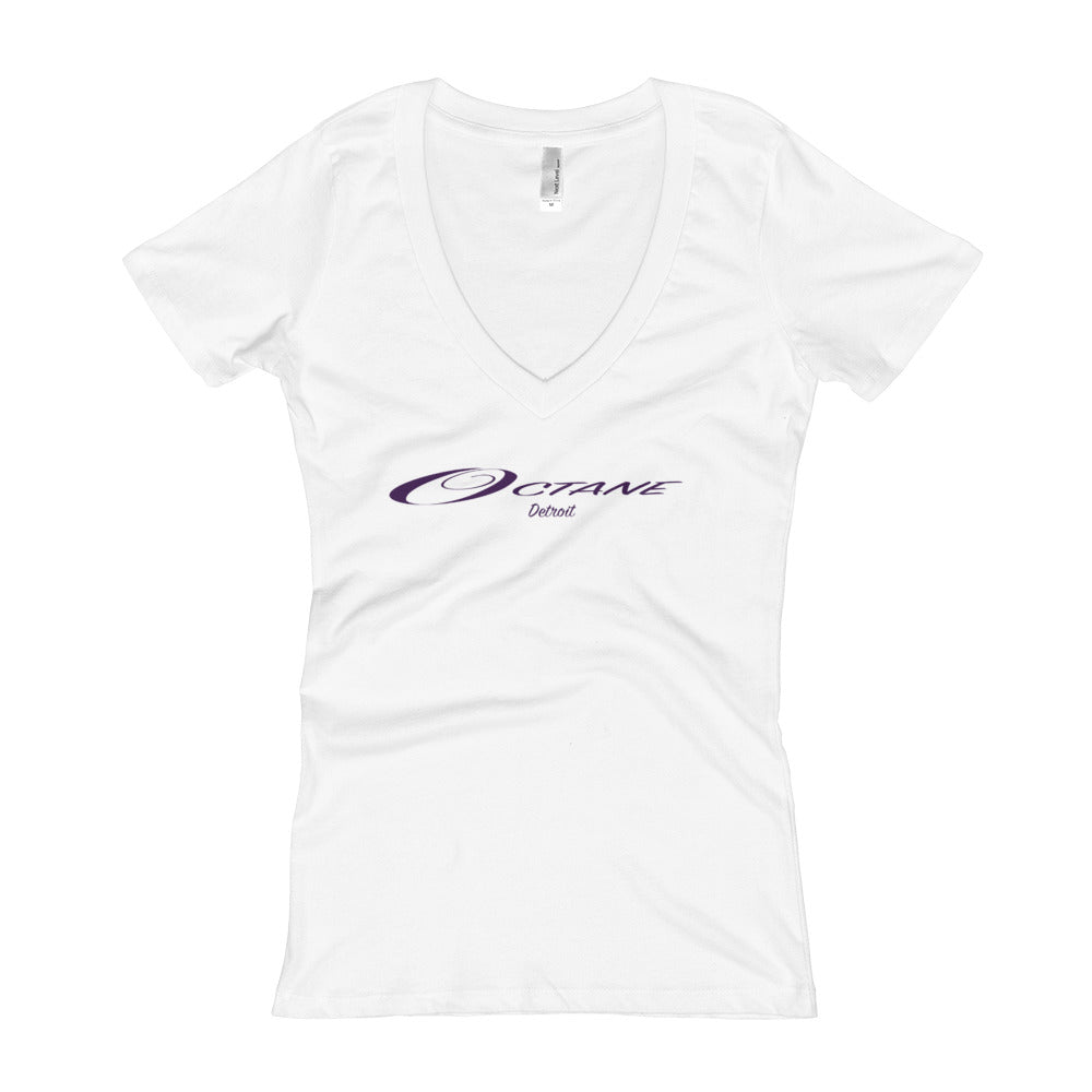 Women's V-Neck Elegant Logo T-shirt (bright colors)