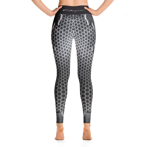 Cracked Metal Yoga Pants